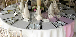 Marquee table and chair hire in east and West Sussex