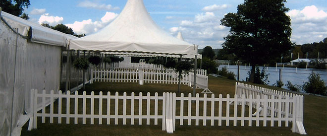 Picket Fencing hire for Sussex Marquees